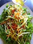 少材料で簡単5分みず菜の桜エビペペロン