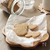 材料5つ。米粉と米ぬかのサクサククッキー(グルテンフリー)