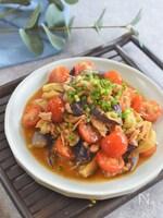 レンジで簡単 なすとトマトとツナの中華風マリネ
