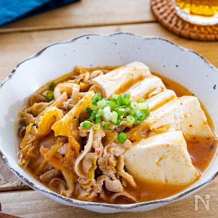 調味料1つだけ!うま辛キムチ肉豆腐