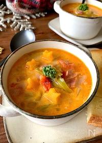 『冬のおいしい定番♡【コクとうま味の簡単ミニトマトスープ】』