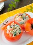 ササッと簡単!蕎麦のツナビーンズトマトカップサラダ