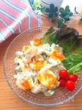 ドレッシングがめちゃ旨♡アボカドと半熟卵のおつまみサラダ