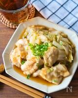 レンジで簡単!白菜と鶏のめんつゆ煮