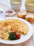【お弁当にも!】野菜とベーコンのスパニッシオムレツ