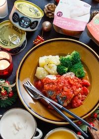 『サバ缶のトマトソースかけ』