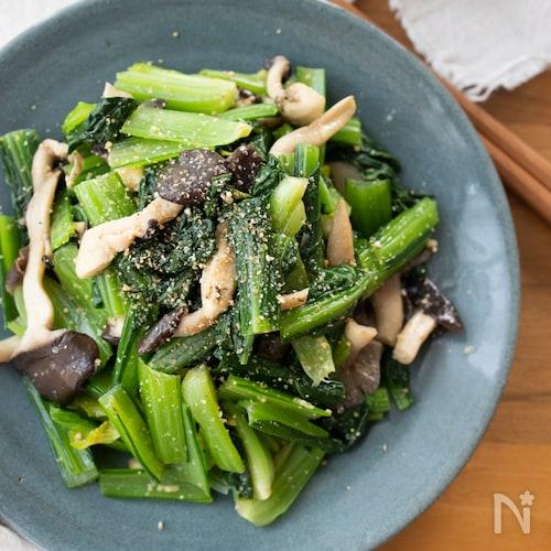 『小松菜と炒めきのこのナムル』#簡単#作り置き