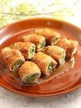 糖質オフ!白菜のチーズ肉巻きの生姜焼き
