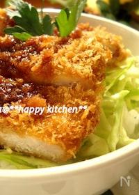 『甘辛ソースでガッツリ♪ソースかつ丼』