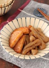 『野菜揚とねじりこんにゃくの甘辛煮【#作り置き #レンジ】』
