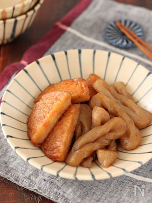 野菜揚とねじりこんにゃくの甘辛煮【#作り置き #レンジ】