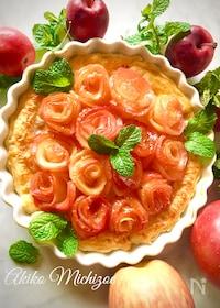 『りんごの花がいっぱい*アップルローズパイ♡』