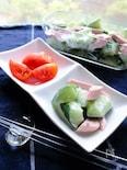 大人も子供も一緒に食べれる!きゅうりとハムの和風サラダ