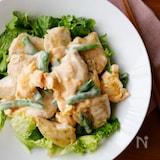 『やみつき!彩り鶏マヨ』#鶏ささみ#お弁当#ボリューム