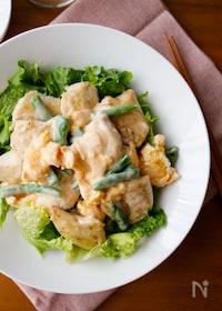 『『やみつき!彩り鶏マヨ』#鶏ささみ#お弁当#ボリューム』