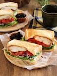 下味冷凍で簡単!タンドリーチキンのサンドイッチ