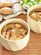 体がほっこり温まる♡海老のキノコのあんかけ茶碗蒸し