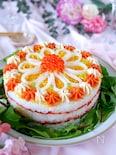 【めんたいチューブで美味しくかわいく♡寿司ケーキ】