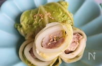 \レンジで簡単/豚肉のロール白菜