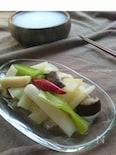 お弁当に〜白ねぎとエリンギの常備菜(やきつべのだし)〜