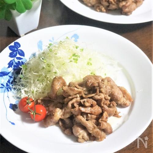 花椒たっぷりピリ辛な豚肉の生姜焼き