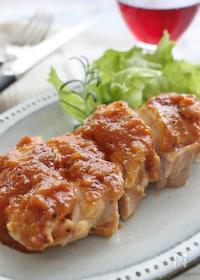 『鶏肉のソテー、オニオンソース』