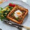 作り置きおかずをフル活用!朝ご飯にぴったりの和惣菜トースト