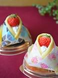 ひな祭りに♡チーズクリームとイチゴのお雛様ケーキ♪
