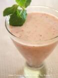 ミネラル練乳ヨーグルト苺スムージー