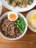 『中華風三色そぼろ丼』#簡単#作り置き#どんぶり