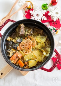 『スペアリブと野菜の和風スープカレー鍋』