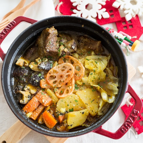スペアリブと野菜の和風スープカレー鍋