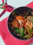 牡蠣とホタテのキムチ