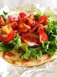 フライパンで作るヘルシーガーデンピザ