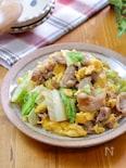ご飯に合う‼︎『春キャベツと豚こま肉のとろたまオイ味噌炒め』