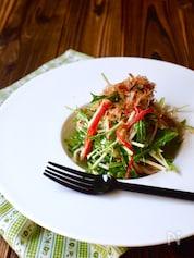 カニカマと水菜のマヨポン和え