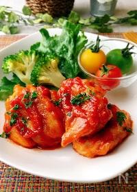『鶏肉のオーロラソースソテー』