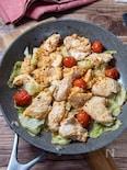 ほったらかしで簡単!『鶏むね肉とキャベツのフライパン蒸し』