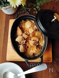 夕飯のおかず☆豚肉の黒酢しょうゆのやわらか煮