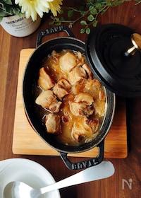 『夕飯のおかず☆豚肉の黒酢しょうゆのやわらか煮』