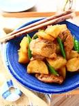 鶏肉と新じゃがとホクホクにんにくの煮もの【作り置きOK】