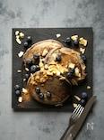 ブルーベリーとココナッツのパンケーキ