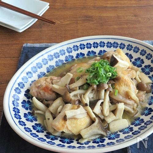 旨味たっぷり☆ごはんがすすむ◎きのこと鶏肉のシャンタン炒め