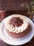 ミキサーで簡単♪チョコバナナNYチーズケーキ♪