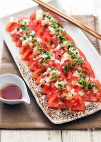 『トマトとタマネギのごまポンサラダ☆カラダリセット』