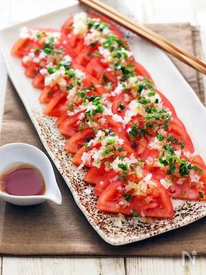 トマトとタマネギのごまポンサラダ☆カラダリセット
