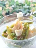 食感が楽しい*筍とスナップえんどう&チーズの春のマリネ