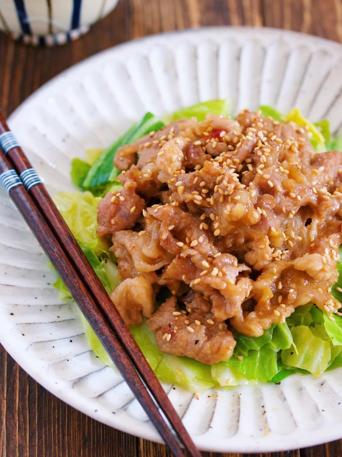 包丁いらず♪『春キャベツと豚こまのスタミナ味噌炒め』 by Yuu