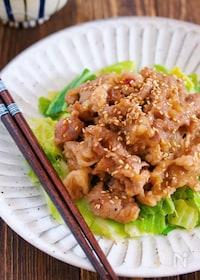 『包丁いらず♪『春キャベツと豚こまのスタミナ味噌炒め』』