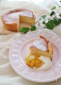 『オーブンで作るチーズパンケーキ』